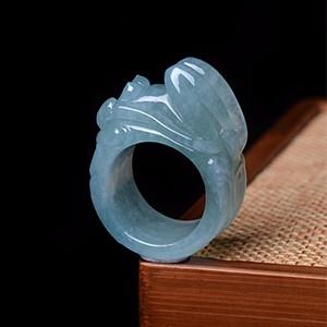 出水芙蓉指环
