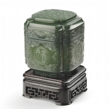 青玉-福禄寿喜香茗罐
