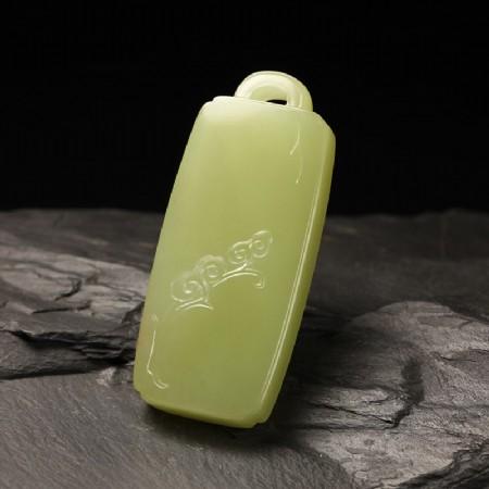 黄玉-如意长寿锁