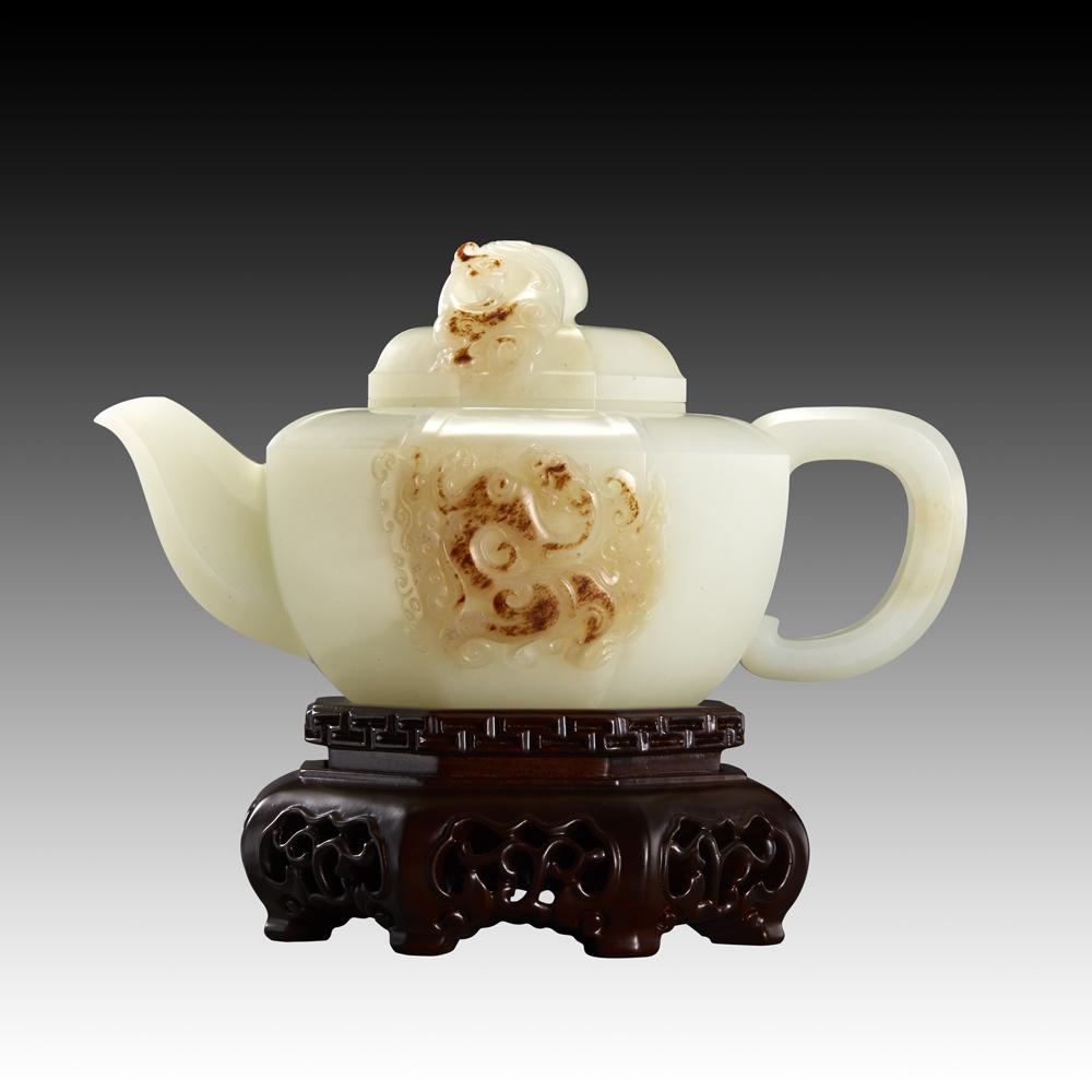 白玉子料-汉韵茶壶